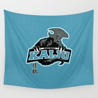 kaiju Wall Tapestries featuring Pacific Breach Kaiju by Buby87
