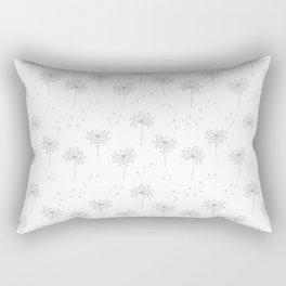 Dandelions in Grey Rectangular Pillow
