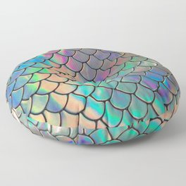 Iridescent Scales Floor Pillow