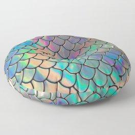 Iridescent Scales Floor Pillow
