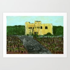 Sand Castle Winery Art Print