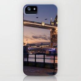 Historic Tower Bridge Thames River London Capital City England United Kingdom Romantic Sunset UHD iPhone Case