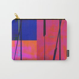 Modern Bold Pink Blue Orange Abstract Carry-All Pouch