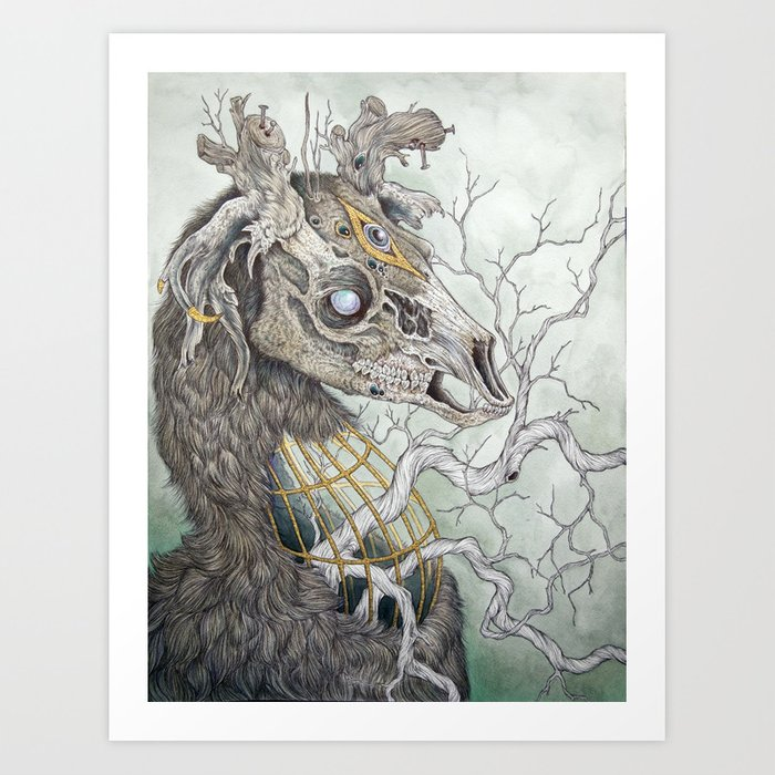 Forgotten Haunts, as a print Art Print