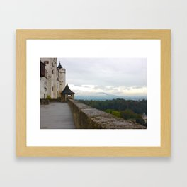 A view from Festung Hohensalzburg Castle Framed Art Print