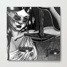 Dark Zodiac: Libra Metal Print