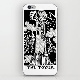 Modern Tarot Design - 16 The Tower iPhone Skin