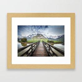 Hallstatt lake Framed Art Print