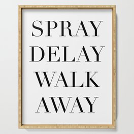Spray Delay Walk Away,Queer Eye,Fab Five,Jonathan,Perfume,Cologne,Fragrance,Typography Quote Printab Serving Tray