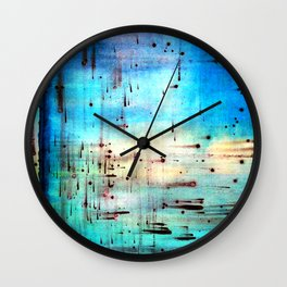 Blowing Dots (2) Wall Clock