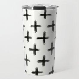 Painted Cross Pattern Travel Mug