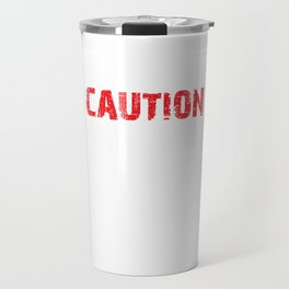 Hairdresser Funny Quote Caution Known To Snip Gift Travel Mug