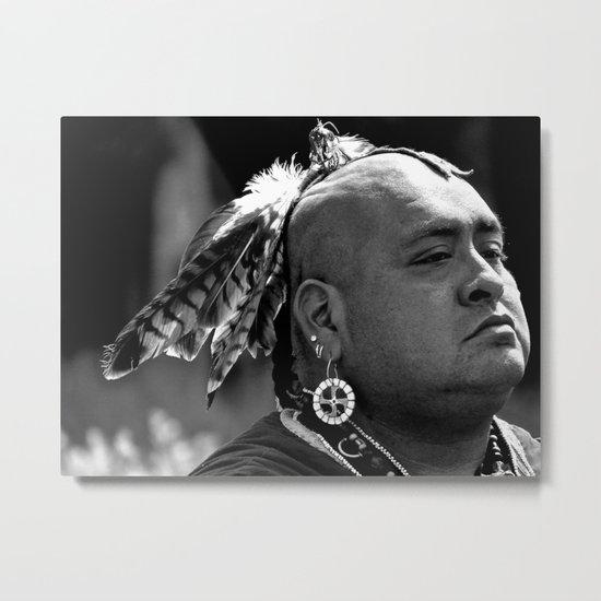 Cherokee Warrior Metal Print