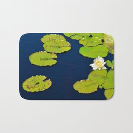 Dark Blue Pond by Teresa Thompson Bath Mat