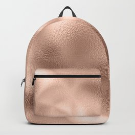 Rose Gold Metallic Texture Backpack