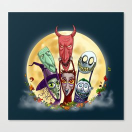 Trick or Treat - Lock, Shock, and Barrel  Canvas Print