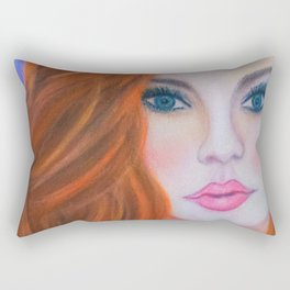 Glamorous Redhead Jessica Rabbit Rectangular Pillow