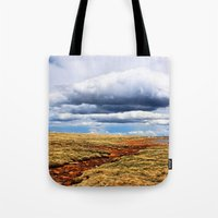 feet Tote Bags featuring 13,000 Feet by Chris Root