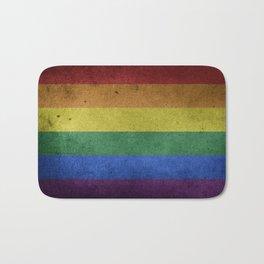 Distressed LGBTQ+ Flag Bath Mat
