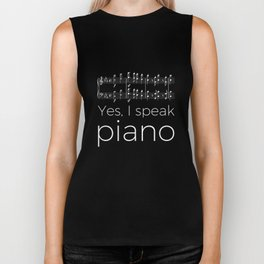 Yes, I speak piano Biker Tank