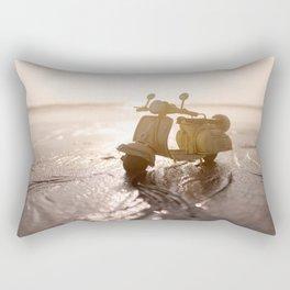 Little Cars, Big Planet (Beach) Rectangular Pillow