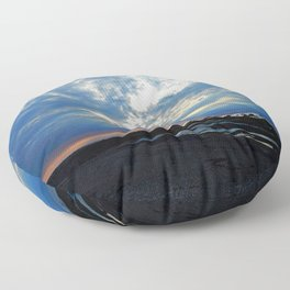Parting of the Clouds Floor Pillow