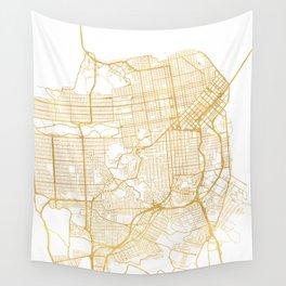 SAN FRANCISCO CALIFORNIA CITY STREET MAP ART Wall Tapestry
