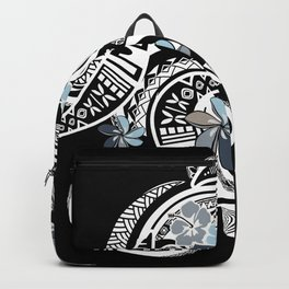 Hawaiian Platinum Floral Tribal Threads Backpack