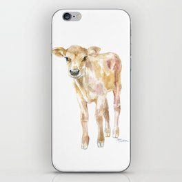 Jersey Calf Watercolor Cow iPhone Skin