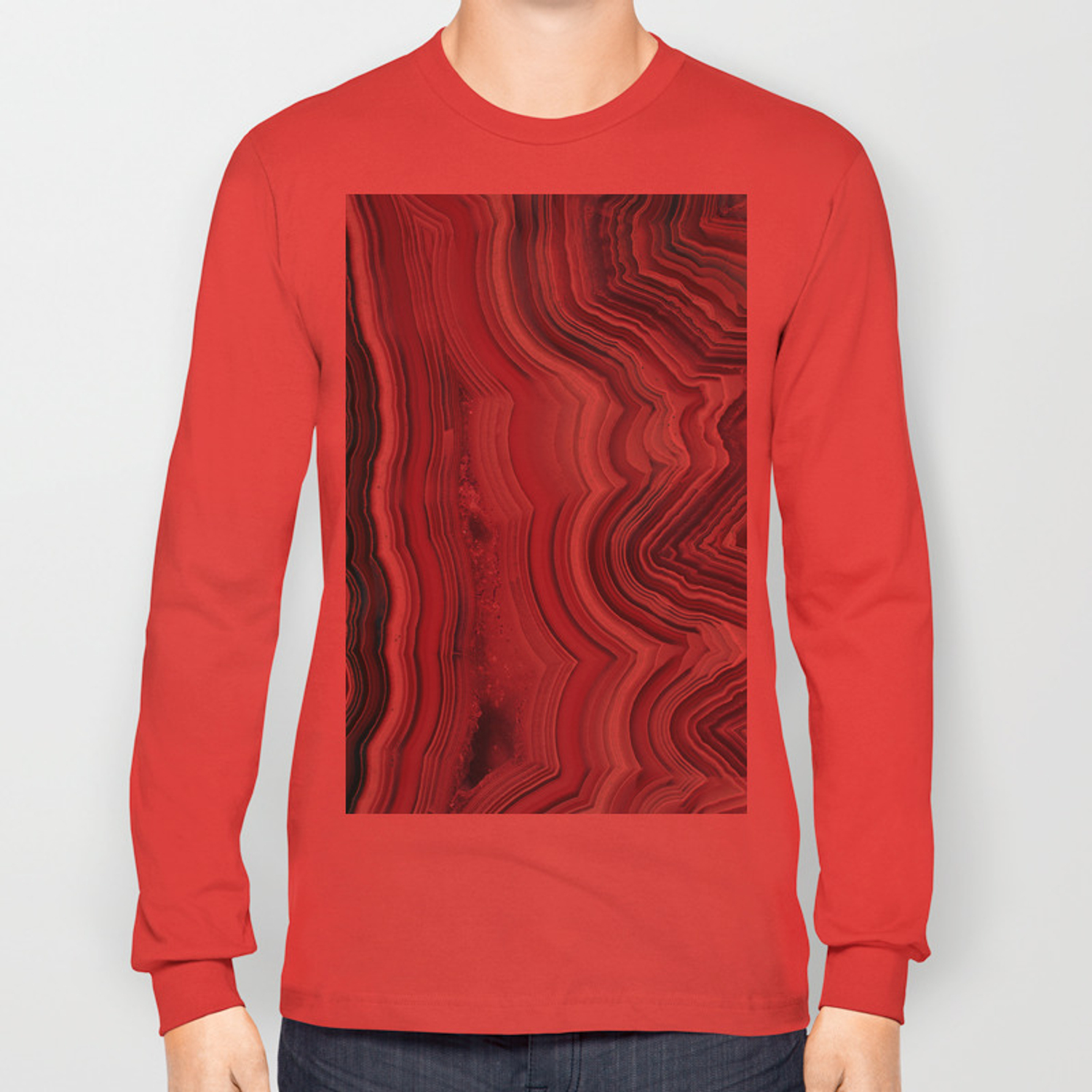 framed agate slices.htm candy floss agate slice long sleeve t shirt by thequarry society6  candy floss agate slice long sleeve t