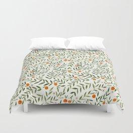 Oranges Foliage Duvet Cover