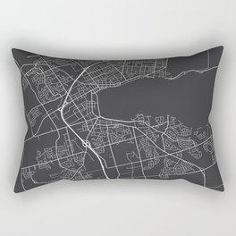 Barrie Map, Canada - Gray Rectangular Pillow