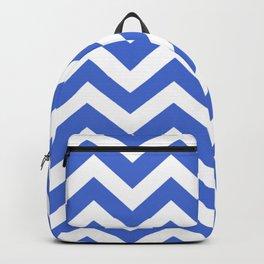 Han blue - blue color - Zigzag Chevron Pattern Backpack