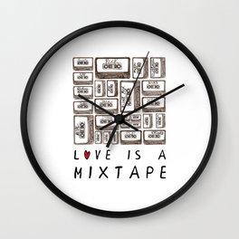 Love is a Mixtape Wall Clock