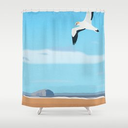 The Gannet and Bass Rock Shower Curtain