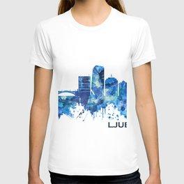 Ljubljana Skyline Blue T-shirt