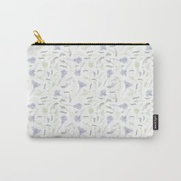 Wild Flowers, Sagebrush, Sticks, Grass and Bumblebees in Blue and Green Carry-All Pouch