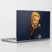 onward Laptop & iPad Skins featuring Mini Mjolnir by garciarts