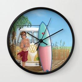 Surf Caravan Wall Clock