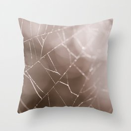 Once in a Dream - Spider Web Photo Throw Pillow