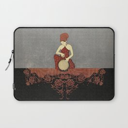 Rastafari Woman on Bongo Drum Laptop Sleeve
