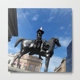 Scottish Photography Series (Vectorized)  - Duke of Wellington Statue Glasgow #1 Metal Print