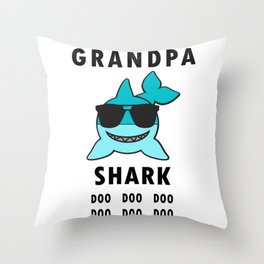 Grandpa Shark Doo Doo, Funny Shark Throw Pillow
