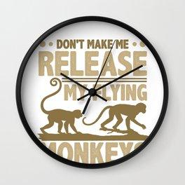 Flying Monkeys Don't Make Me Release My Flying Monkeys Wall Clock