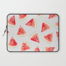 Watercolor Watermelon Pattern #society6 #buyart #decor Laptop Sleeve