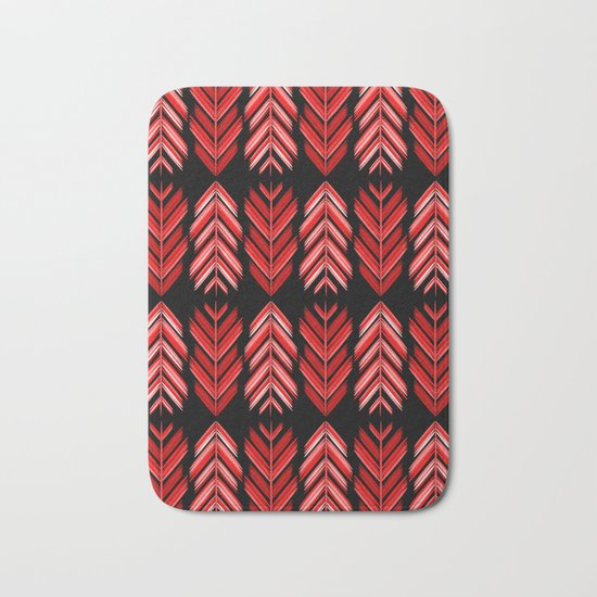 Red feathers Bath Mat