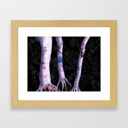 Pink Upper World Trees Framed Art Print