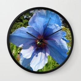 Blue Poppy Wall Clock