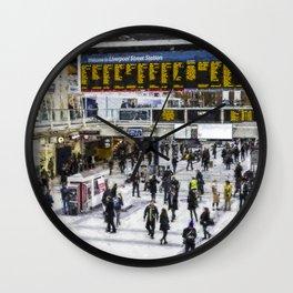 London Train Station Art Wall Clock