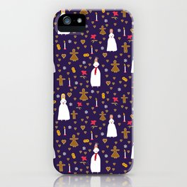 The Swedish Lucia - Christmas pattern iPhone Case